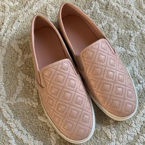 Tory Burch Jesse Quilted Leather Slip On Sneaker